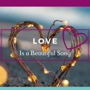 Love Banner: Love is a Beautiful Soing Inside a Golden Heart - Awakening Alchemy
