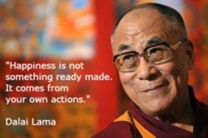 The Dalai Lama with a Quote on Happiness - Awakening Alchemy