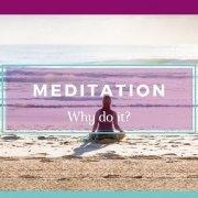 Woman Sitting on a Beautiful Beach Meditating - Awakening Alchemy