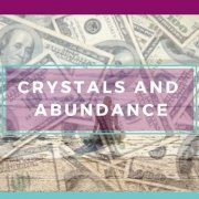 Crystals and Abundance Banner