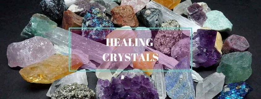 Crystal Collection in a Healing Crystals Banner