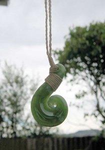 Maori Greenston Koru Pendant from New Zealand - Awakening Alchemy