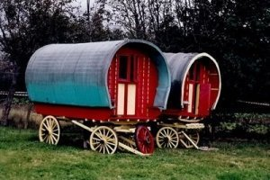 Two Irish Traveller's Caravans - Awakening Alchemy