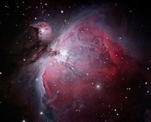 Portrayal of the Orion Nebula