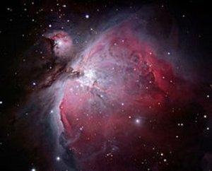 Portrayal of the Orion Nebula
