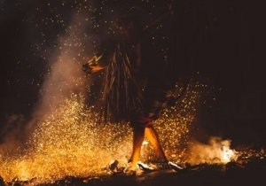 Shaman Dancing Around Fire - Awakening Alchemy