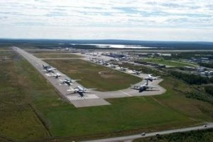Many Planes on Gander Airport's Runway after 9/11 - Awakening alchemy