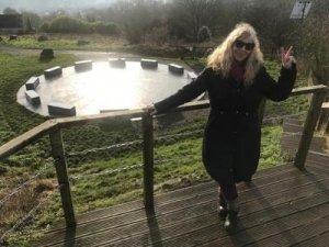 Jill Hughes Standing Overlooking StarDisc - Awakening Alchemy