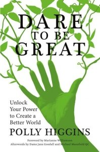 Dare To Be Great Book Cover - A Green Hand Reaches For Plants - Awakening Alchemy