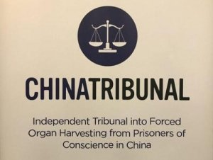 China Tribunal Logo - Balanced Scales: Black on Beige - Awakening Alchemy