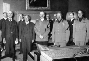 Neville Chamberlain and Adolf Hitler Sign an Accord - Awakening Alchemy