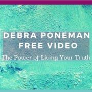 Debra Poneman - Video 1 Banner - Debra Head and Shoulders on Aquamarine Background - Awakening Alchemy