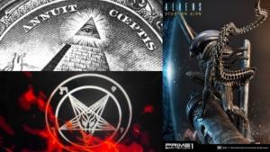 Awakening Alchemy - Composite - Annuit Ceptus, Aliens Scorpion, Pentacle