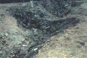Awakening Alchemy - Crater in Shanksville, Pennsylvania, left by UA Flight 93