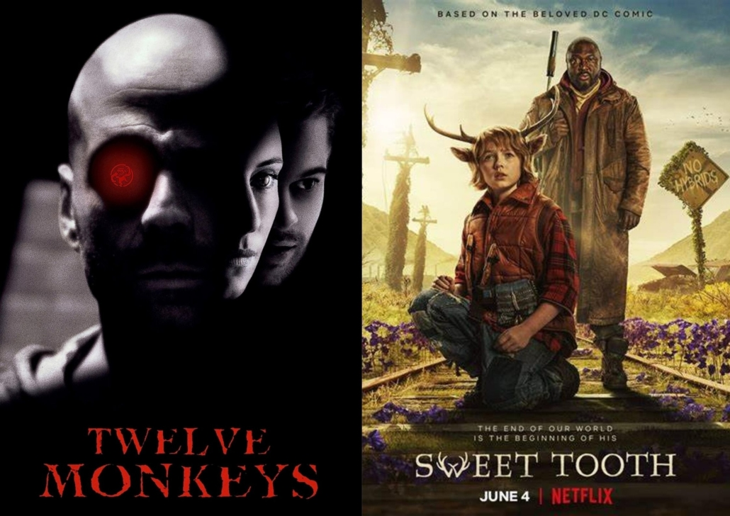Awakening alchemy - Composite Photo - 12 Monkeys Movie Poster and Sweet Tooth Netflix Series Poster