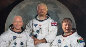Awakening Alchemy - Mocked Up Photo of Bezos, Branson & Musk as Astronauts